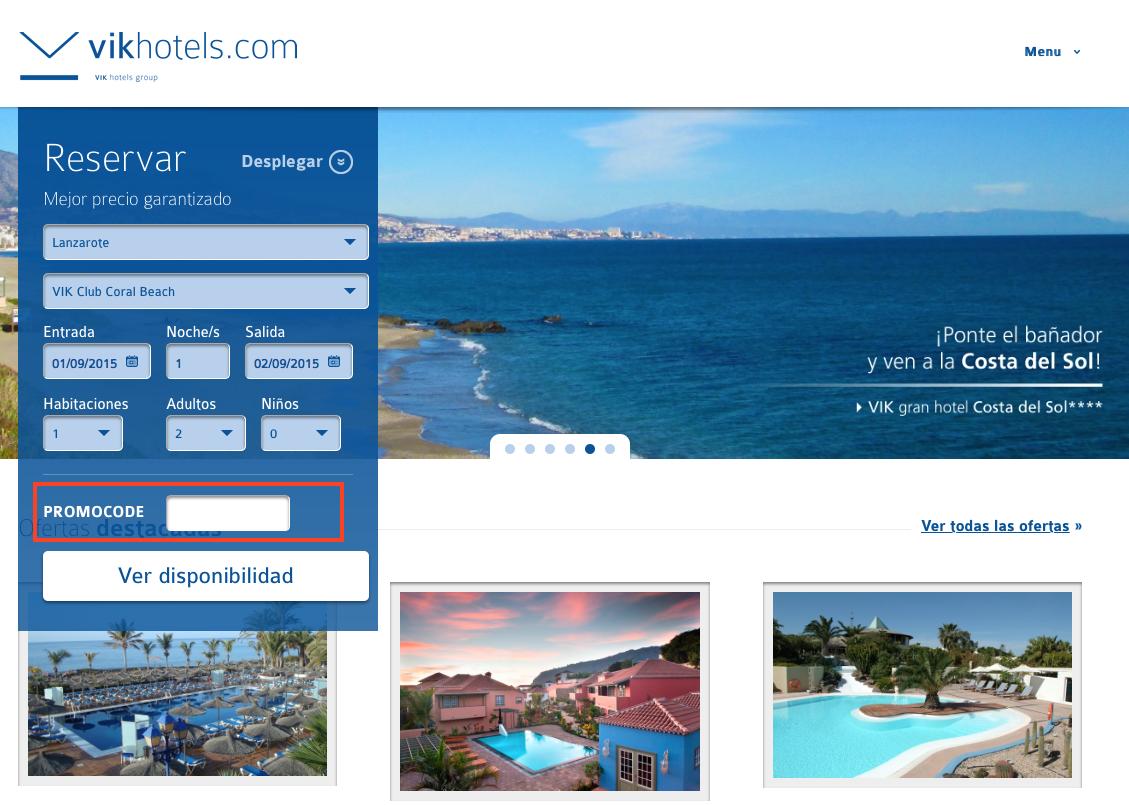 Descuento Promocode Vik Hoteles