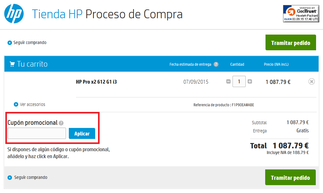 Descuento Cupón Promocional HP