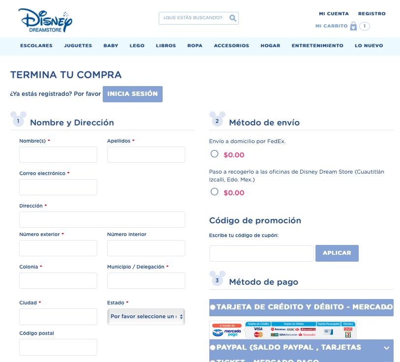 Descuento Código de Promoción Disney Dream Store